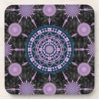 Nightblooming Cactus Mandala Array Coaster