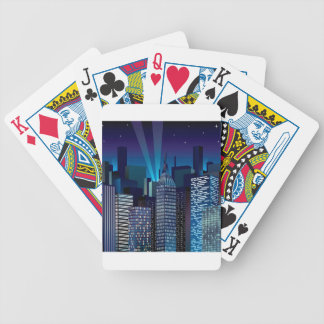 NightCityScape_VectorDTL Bicycle Playing Cards