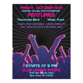 "Nightclub Dance Rave Template 8.5"" X 11"" Flyer"