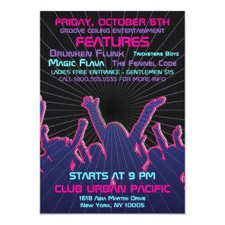 Nightclub Dance Rave Template 5x7 Paper Invitation Card