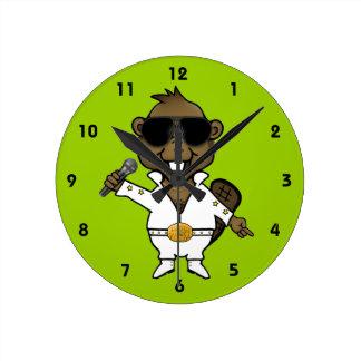 Nightclub Entertainer Round Clock