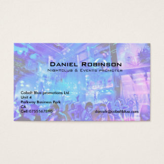 Nightclub & events promoter business card