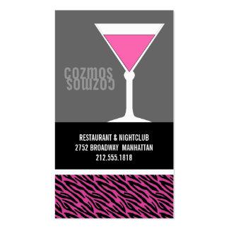 Nightclub or Bartender Business Cards