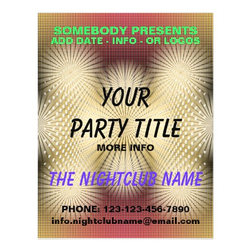 nightclub party flyer flyer