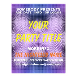 nightclub party flyer