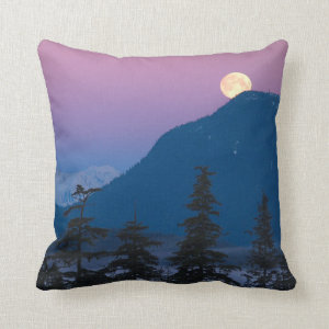 Nightfall in Alaska Pillow