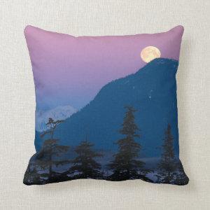 Nightfall in Alaska Pillow