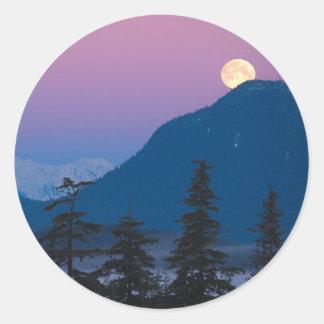 Nightfall in Alaska Sticker