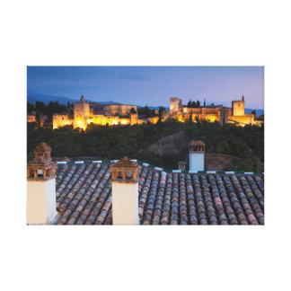 Nightfall in the Alhambra, Granada Canvas Print