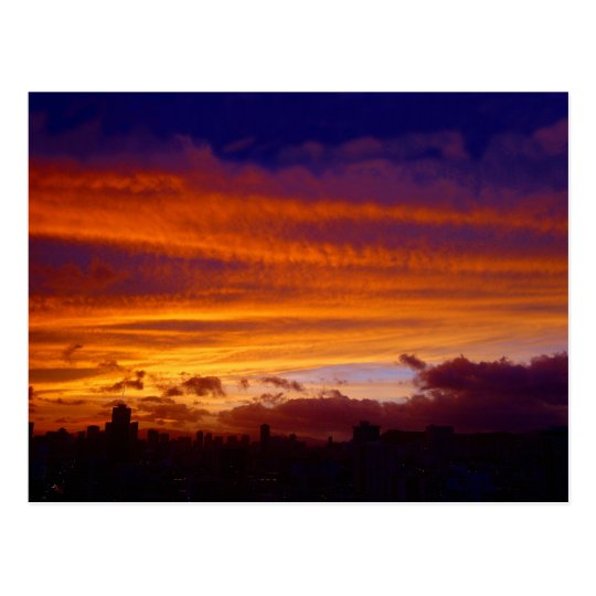Nightfall over the City Postcard