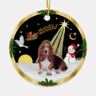 NightFlight-  Basset Hound Ornament