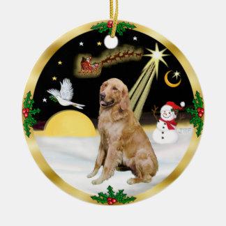 NightFlight-  Golden Retriever Ceramic Ornament