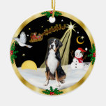 NightFlight-  Greater Swiss Mountain Dog Double-Sided Ceramic Round Christmas Ornament