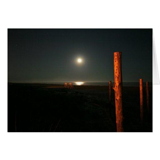Nightguards--Playa en la noche Tarjeta Pequeña
