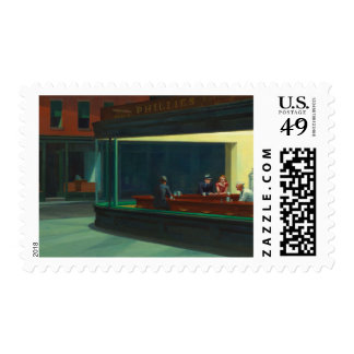 Nighthawks by Edward Hopper Stamp