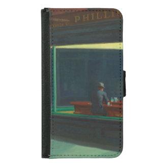 Nighthawks by Edward Hopper Wallet Phone Case For Samsung Galaxy S5