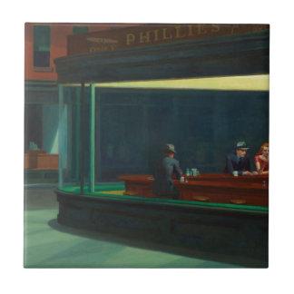 Nighthawks de Edward Hopper Azulejo Cuadrado Pequeño