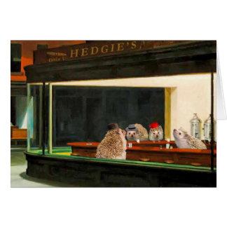 Nighthogs de Edward Hopper, tarjeta del arte del