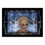 Nightime Winter Elf Fantasy Business Card