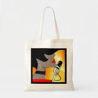 Nightingale Music Singer Tote Bag