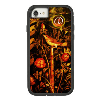NIGHTINGALE WITH ROSES MONOGRAM, Red Black Yellow Case-Mate Tough Extreme iPhone 8/7 Case