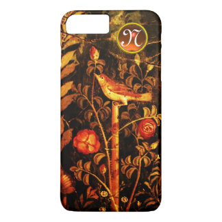 NIGHTINGALE WITH ROSES MONOGRAM, Red Black Yellow iPhone 8 Plus/7 Plus Case