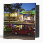Nightlife on Ocean Drive, South Beach, Miami Vinyl Binder
