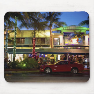 Nightlife on Ocean Drive, South Beach, Miami Mouse Pad
