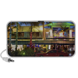 Nightlife on Ocean Drive, South Beach, Miami Portable Speaker