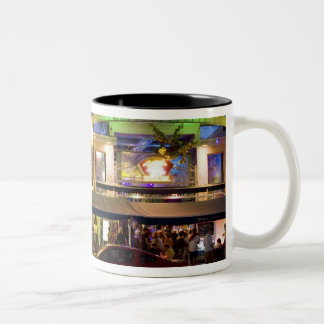 Nightlife on Ocean Drive, South Beach, Miami Two-Tone Coffee Mug