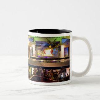 Nightlife on Ocean Drive, South Beach, Miami Two-Tone Coffee Mug