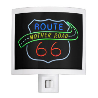 Nightlight del camino de la madre de la ruta 66 luces de noche