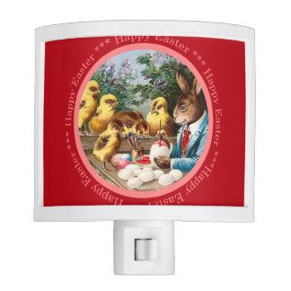 Nightlight del conejito de pascua del vintage lámpara de noche