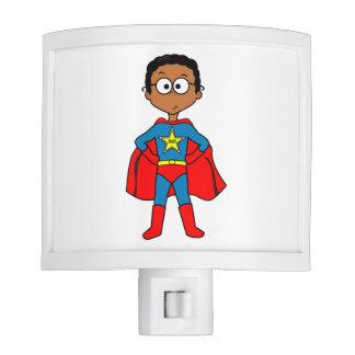 Nightlight para el super héroe de los niños lámpara de noche