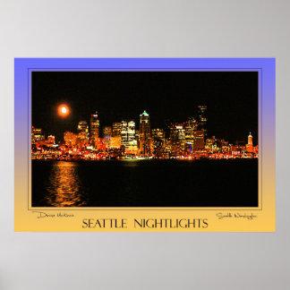 Nightlights de Seattle Impresiones
