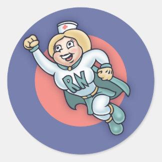 Nightly Nurse! Classic Round Sticker