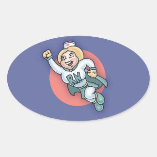 Nightly Nurse! Oval Sticker