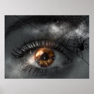 nightmare-455776 SCARY SPIDERS EYEBALL nightmare e Poster