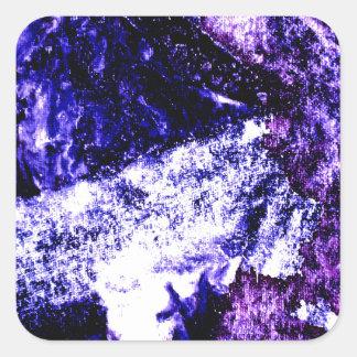 Nightmare abstract purple black design square sticker