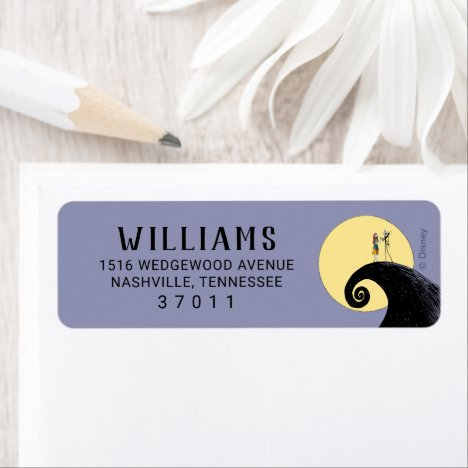 Nightmare Before Christmas Baby Shower Label