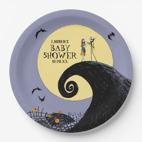 Nightmare Before Christmas Baby Shower Paper Plate