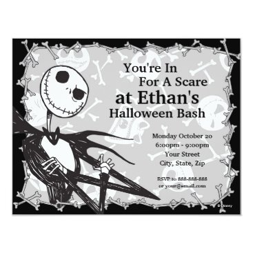 disney Nightmare Before Christmas Halloween Party Card