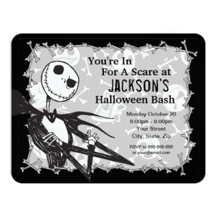 Nightmare Before Christmas Halloween Party Card at Zazzle