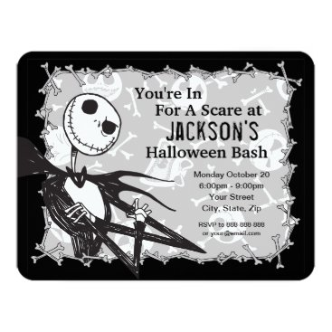 Halloween Themed Nightmare Before Christmas Halloween Party Card