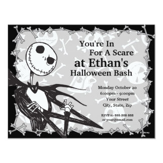 Nightmare Before Christmas Halloween Party 4.25x5.5 Paper Invitation Card