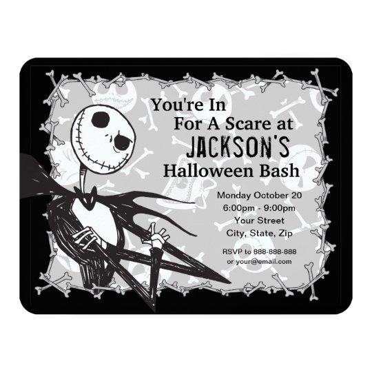 Nightmare Before Christmas Halloween Party Invitation Zazzle