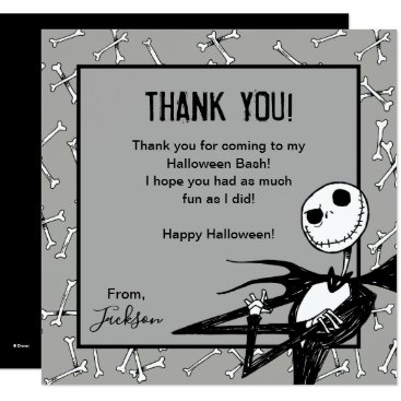 Disney Themed Nightmare Before Christmas Halloween Thank You Card