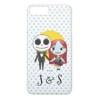 Nightmare Before Christmas | His And Hers Initials iPhone 8 Plus/7 Plus Case