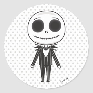 Nightmare Before Christmas | Jack Emoji Classic Round Sticker