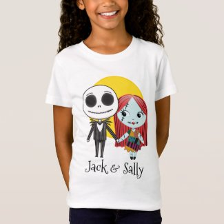 Nightmare Before Christmas | Jack & Sally Emoji 2 T-Shirt